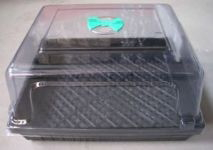 Covered and Vented Seedling Tray
